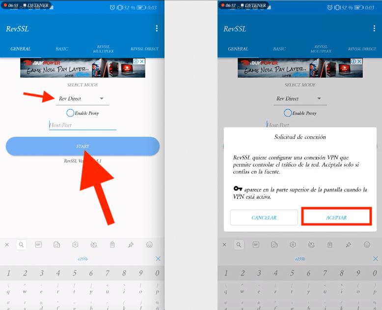 conectar revssl app vpn