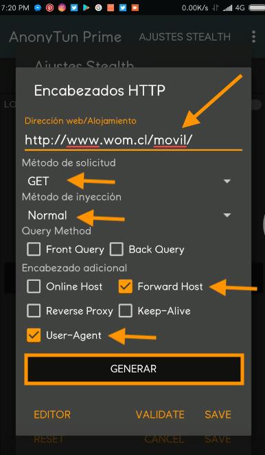 configurar anonytun wom host