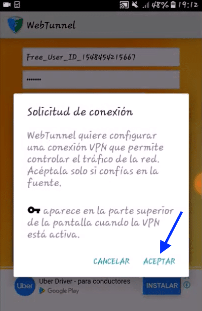 como configurar telcel webtunnel