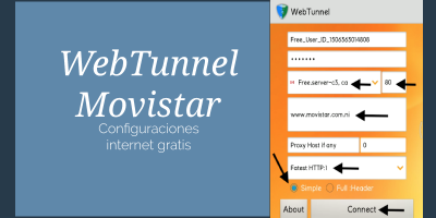 web tunnel movistar internet gratis